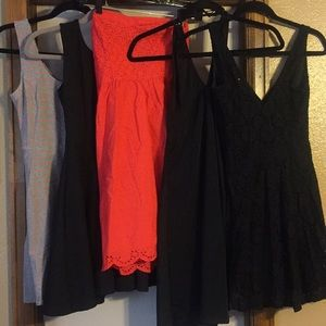 Set of 5 dresses, size small
